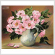 cross stitch pattern Pink Bouquet