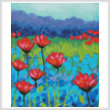 cross stitch pattern Poppy Study (Crop)