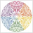cross stitch pattern Rainbow Circle