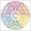 cross stitch pattern Rainbow Circle