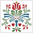 cross stitch pattern Rosemaling 3
