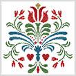 cross stitch pattern Rosemaling 3