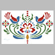 cross stitch pattern Rosemaling 4