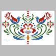 cross stitch pattern Rosemaling 4
