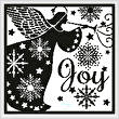 cross stitch pattern Snowflake Angel Silhouette