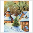 cross stitch pattern Snowy Village (Crop)