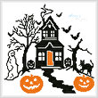 cross stitch pattern Spooky Halloween House
