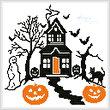 cross stitch pattern Spooky Halloween House