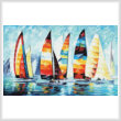 cross stitch pattern Sail Regatta (Large)