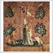 cross stitch pattern Touch (Lady and the Unicorn) Large