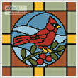 cross stitch pattern Stained Glass Square 1