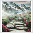 cross stitch pattern Stairway to the Mountains (Crop)