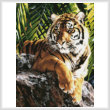 cross stitch pattern Sumatran Tigress (Crop)