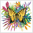 cross stitch pattern Tropical Butterfly 3