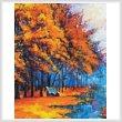cross stitch pattern Autumn Landscape Painting (Crop)