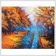 cross stitch pattern Autumn Landscape Painting