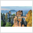 cross stitch pattern Bastei Bridge, Germany