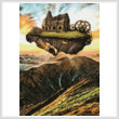 cross stitch pattern Floating Steampunk Mountain (Crop)