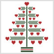 cross stitch pattern Heart Christmas Tree