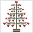 cross stitch pattern Heart Christmas Tree