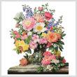 cross stitch pattern June Flowers in Radiance (No Background)