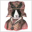 cross stitch pattern Medieval Rabbit