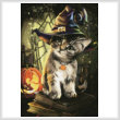 cross stitch pattern Magic Cat