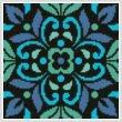 cross stitch pattern Ornamental Square 4