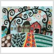 cross stitch pattern Rural Town 1