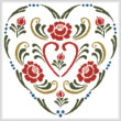 cross stitch pattern Rosemaling Heart 3