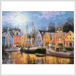 cross stitch pattern Ships Aglow