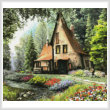 cross stitch pattern Toadstool Cottage (Crop)