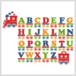 cross stitch pattern Train Alphabet