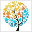 cross stitch pattern Warm and Cool Tree of Hearts 1