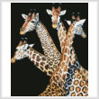 cross stitch pattern Four Giraffes