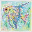 cross stitch pattern Abstract Angel Fish