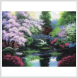cross stitch pattern Bridge of Tranquility
