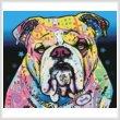 cross stitch pattern The Bulldog