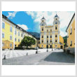 cross stitch pattern Basilica St. Michael, Mondsee, Austria