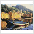 cross stitch pattern Boats of Portofino