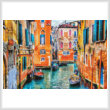 cross stitch pattern Colourful Venice Street
