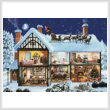 cross stitch pattern Christmas House 1 (Large)