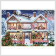 cross stitch pattern Christmas House 2 (Large)