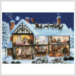 cross stitch pattern Christmas House 1