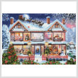 cross stitch pattern Christmas House 2