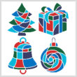 cross stitch pattern Christmas Icons 1