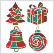 cross stitch pattern Christmas Icons 2