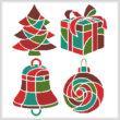 cross stitch pattern Christmas Icons 2