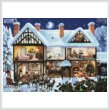cross stitch pattern Christmas House 3