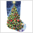 cross stitch pattern Christmas Tree Stocking (Right)